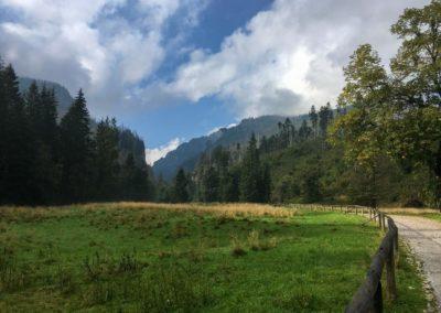 Vstup mezi hory v Dolina Kościeliska