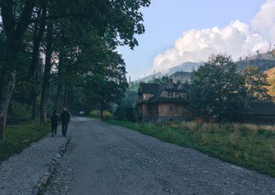 Vstup do národního parku v Dolina Kościeliska