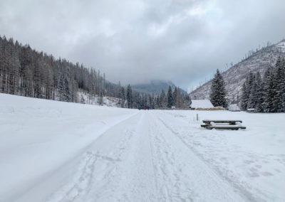 Zimní polana v Dolina Kościeliska
